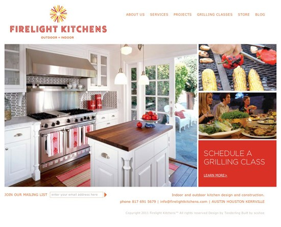Firelight Kitchens Site Build