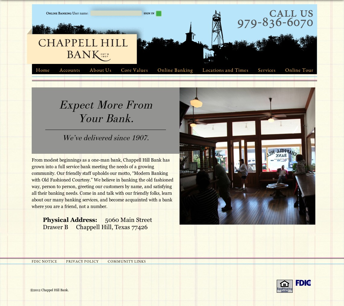 Chappell Hill Bank New Site Build