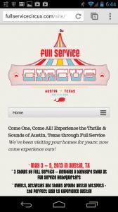 Full Service Circus Site Build