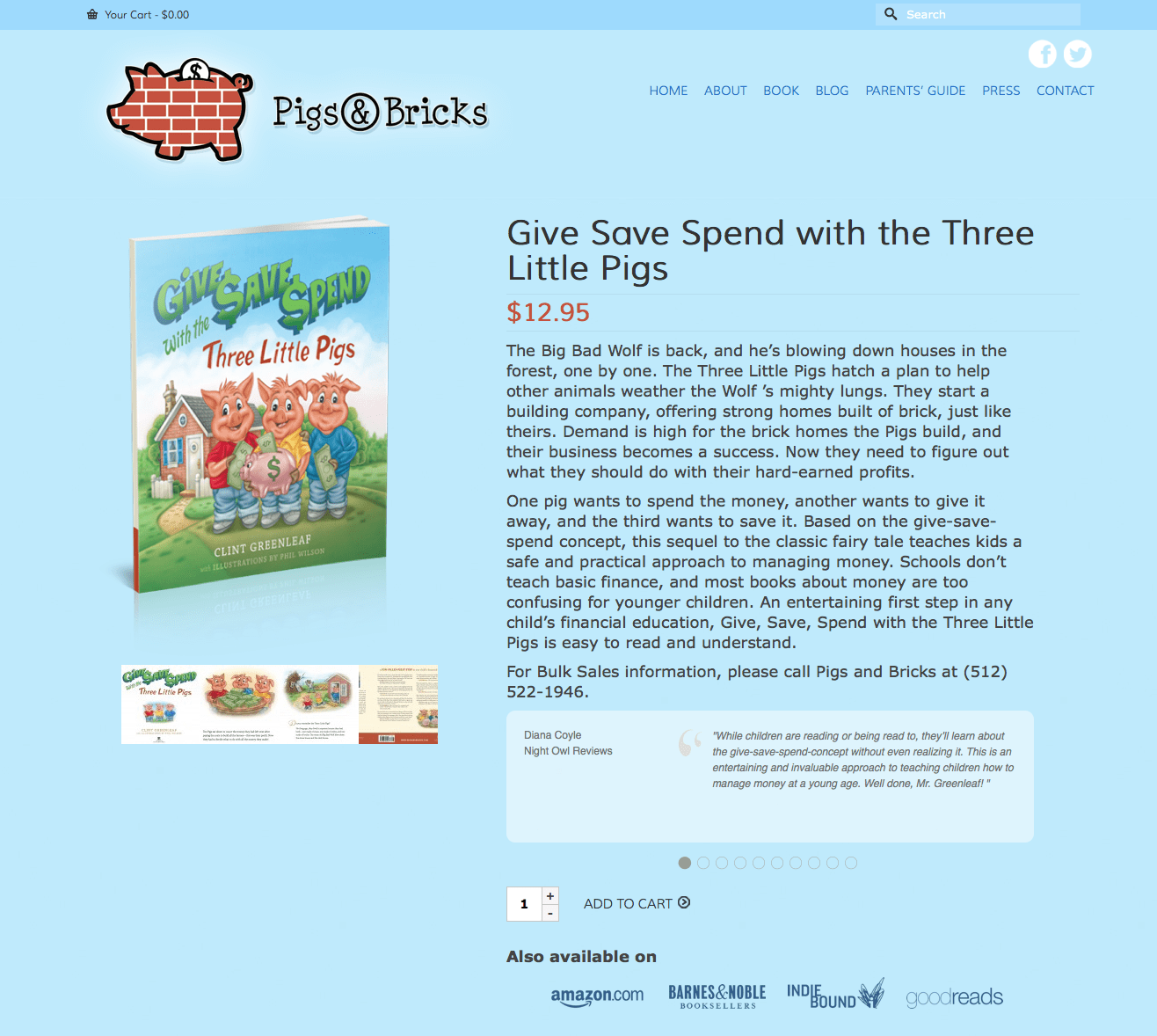Give Save Spend with the Three Little Pigs | Pigs & Bricks (20140507)